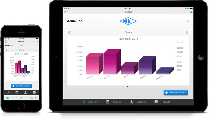 Opcje filemaker Go na ipad i iphone